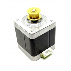 Nema 17 5 Kg-cm Bipolar Stepper Motor with inbuilt 20 teeth GT2 Pulley for CNC Robotics RepRap 3D Printer