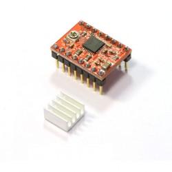 1pcs A4988 Nema 17 Stepper Driver Module with Heatsink for Ramps 1.4 3D Printer