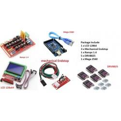3D Printer Kit RAMPS 1.4 + 2004 LCD + Arduino mega 2560 + DRV8825 Driver Module + Endstops