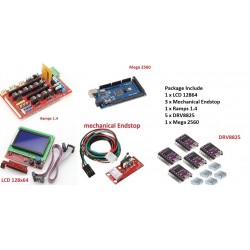 3D Printer Kit RAMPS 1.4 + 12864 LCD + mega 2560 + DRV8825 Driver Module + Endstops