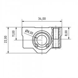 1Pcs SC8UU Linear Bush Ball Bearing Block Bearing 3D Printer CNC DIY Projects
