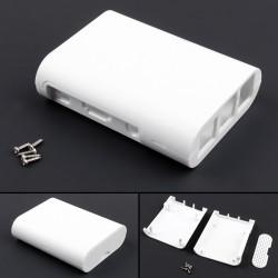 White Plastic Raspberry Pi Case Enclosure for Raspberry Pi 3 Model B, B+