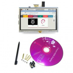 "5"" 5 Inch HDMI Touch Screen TFT LCD Panel Module Shield 800x480 For Raspberry Pi B B+"