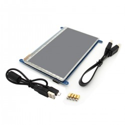 """7"""" 7 Inch Display HDMI 800x480 LCD with Touch Screen Monitor for Raspberry Pi 3 B, B+"""