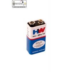 10pcs 9V DC HI-Watt Original 6F22M Non Rechargeable Battery Long Life for Home DIY