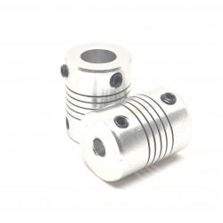 2pcs 5 x 10mm Aluminium Flexible Coupling for Nema 17 Z Axis 3D Printer CNC DIY