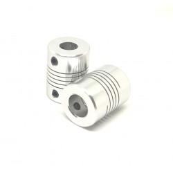 2pcs 8 x 10mm Aluminium Flexible Coupling for Nema 23 Z Axis 3D Printer CNC Robotics DIY
