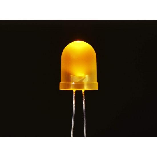 100 Pcs 3mm Yellow Color LED Light Bulb Lamp Light Emitting Diode DC 1.5V - 3V for DIY Projects