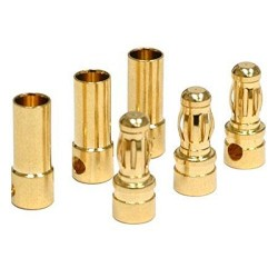 12PCS 6 Pairs RC 3.5mm Male/Female Gold-plated Bullet Banana Plug Connector Set