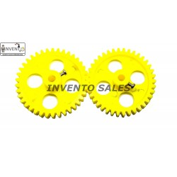 2pcs Plastic Spur gear 38 Teeth 60mm dia, 12mm Width, 6mm hole for DIY Projects