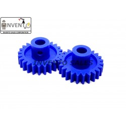 2pcs Plastic Spur gear 24 Teeth 27mm dia, 6.5mm Width, 6mm hole for DIY Projects