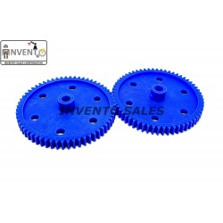 2pcs Plastic Spur gear 60 Teeth 65mm dia, 6.5mm Width, 6mm hole for DIY Projects
