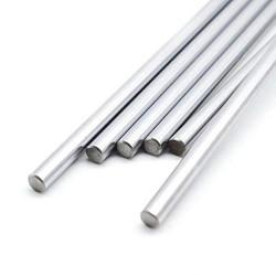 2pcs EN31 Rustproof Steel Smooth Rod 8mm OD 1000mm (1 mtr) Long for CNC Robotics Machines DIY Projects