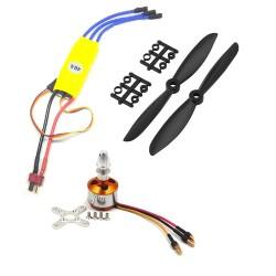 1Pcs 1000KV BLDC Brushless Motor + 40A ESC + 6045 6x4.5 6 inch Propeller Quadcopter mini kit