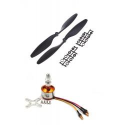 1Pcs 1000KV BLDC Brushless Motor + 1145 11x4.5 11 inch Propeller Quadcopter mini kit