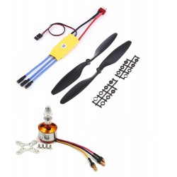 1Pcs 2000KV BLDC Brushless Motor + 30A ESC + 1245 12x4.5 12 inch Propeller Quadcopter mini kit