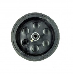 1Pcs 95mm x 40mm Plastic Robotic Wheel Durable Rubber Black Tire Wheel with metal collet for DC Geared Motor RC Car Robot