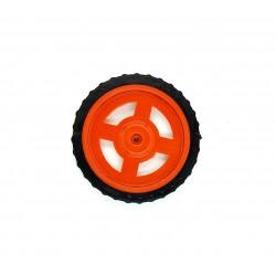 1pcs Plastic Robotic Wheel Durable Rubber Tire Wheel 72mm x 8mm for Bo Dc Motor DC Geared Motor