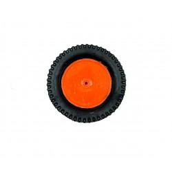 1pcs Plastic Robotic Wheel Durable Rubber Tire Wheel 75mm x 15mm for Bo Dc Motor DC Geared Motor