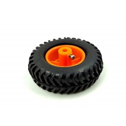 1pcs 80mm x 25mm Plastic Robotic Wheel Durable Rubber Tire Wheel 6mm Hole for DC Geared Motor RC Car Robot