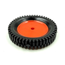1pcs 75mm x 13mm Plastic Robotic Wheel Durable Rubber Tire Wheel 6mm Hole for DC Geared Motor RC Car Robot