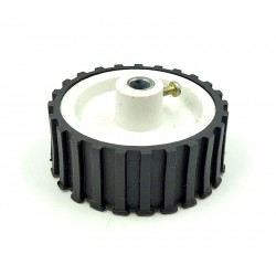 1pcs 55mm x 20mm Plastic Robotic Wheel Durable Rubber Tire Wheel 6mm Hole with metal collet for DC Geared Motor RC Car Robot