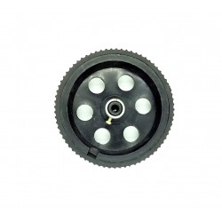 1pcs 95mm x 20mm Plastic Robotic Wheel Durable Rubber Black Tire Wheel with metal collet for DC Geared Motor RC Car Robot