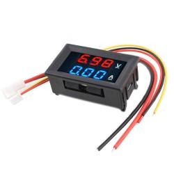 """0.28"""" LED Voltmeter Ammeter, Red and Blue Digital Multimeter Display Voltage Current Tester,DC 0-100V 10A Detector Voltage Current Meter Panel Amp Volt Gauge"""