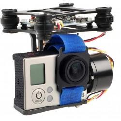 2-Axis CNC Aluminium Brushless Camera Mount Brushless Gimbal for Gopro 2 3, DJI Phantom Hero3+ Hero3