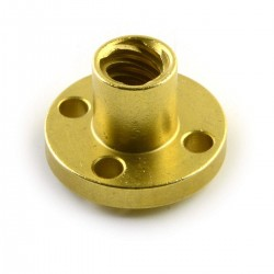 1Pcs 100mm Trapezoidal lead screw T8 8mm pitch 2mm lead 8 TR8 + brass nut for 3D Printer CNC Robotics