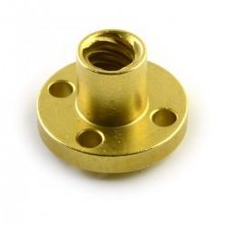 1Pcs 1000mm (1mtr) Trapezoidal lead screw T8 8mm pitch 2mm lead 8 TR8 + brass nut for 3D Printer CNC Robotics