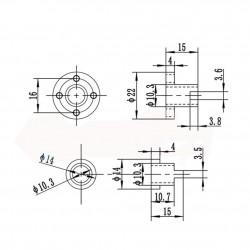 1Pcs 150mm (0.15mtr) Trapezoidal lead screw T8 8mm pitch 2mm lead 8 TR8 + Anti backlash spring loaded brass nut for 3D Printer CNC Robotics