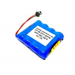 4.8V 700 mAh Polymer Ni-Cd Rechargeable 4 AA Cell Battery Pack for cordless phone Toy Car DIY Project