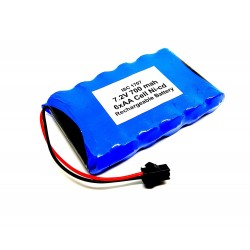 7.2V 700 mAh Polymer Ni-Cd Rechargeable 6 AA Cell Battery Pack for cordless phone Toy Car DIY Project