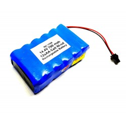 14.4V 700 mAh Polymer Ni-Cd Rechargeable 12 AA Cell Battery Pack for cordless phone Toy Car DIY Project
