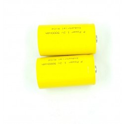 2pcs 1.2V 5000 mah D Cell Ni-Cd Rechargeable Battery for Home toys clock