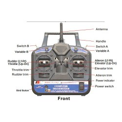 Flysky CT-6B 2.4Ghz 6 Channel Remote Control RC Transmitter Receiver Control for Quadcopter