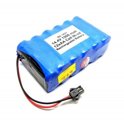 14.4V 1500 mAh Polymer Ni-Cd Rechargeable 12 AA Cell Battery Pack for cordless phone Toy Car DIY Project