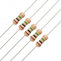 250Pcs 1M Mega Ohm Carbon Film Resistor 1/4 W Resistance 0.25 Watt 250mW 5% Toleance High Quality For DIY