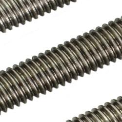2Pcs 1000mm (1 mtr) SS304 Threaded Rod M8 8mm OD + M8 nut 1.25mm Pitch 8mm T Nut Brass round Flange Single Nut for 3D Printer CNC Robotics
