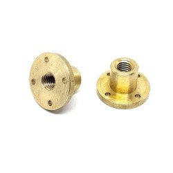 1Pcs 500mm (0.5 mtr) SS304 Threaded Rod M12 12mm OD + M12 nut 1.75mm Pitch 12mm T Nut Brass round Flange Single Nut for 3D Printer CNC Robotics