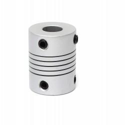 2pcs 5mm x 6mm Aluminum Flexible Coupling 5x6 for Nema 17 Z Axis 3D Printer CNC DIY