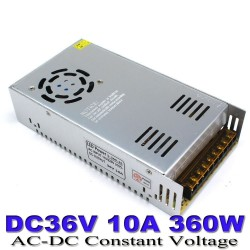 36V 10A 360 watt DC SMPS Power supply for CCTV LED Driver Amplifier DIY Projects