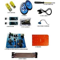 Micro-controller Small Line Tracking Smart Car Line Following Robot LFR DIY Kit