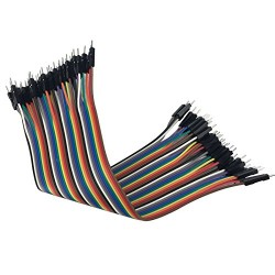 40pcs Dupont 20CM Male To Male Jumper Wire Ribbon Cable for Breadboard DIY