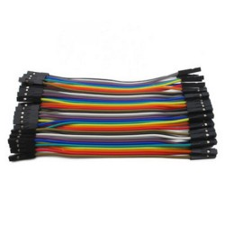 40pcs Dupont 20CM Female To Female Jumper Wire Ribbon Cable - Breadboard DIY