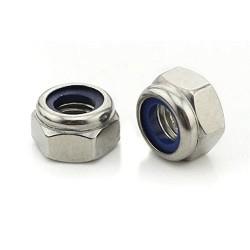 10 pcs M4 Nylon Insert Nylock Lock SS Steel Nuts for DIY Projects