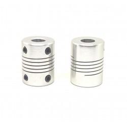 2Pcs 8x8mm Motor Jaw Shaft Coupler Aluminum 8mm Flexible Coupling for Nema 23 3D Printer Z Axis For RepRap