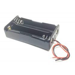 5pcs 18650 Battery Holder Case 2 cell Battery Box 2 slot Plastic Battery Case for DIY