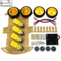 4 wheels 2 layer Smart Robot Car Chassis Kit with Battery Holder BO Motor for DIY Projects